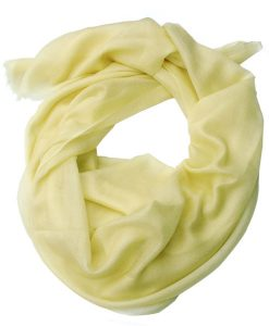 Ladies Cashmere Lightweight Scarf Lemon Sorbet